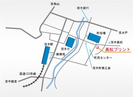 会社の近隣地図